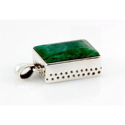 87.5ctw Natural Silver Emerald Pendant (19x25mm)