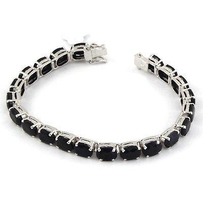 32.55 ctw .925 Sterling Silver Dark Sapphire