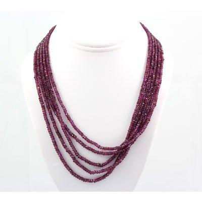 414.5ctw Natural Ruby Rondelles Necklace & Bracelet