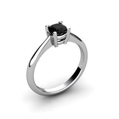 Black Diamond 0.50ctw Ring 14kt White Gold