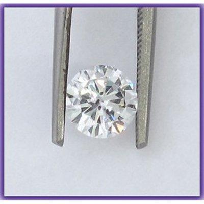 Certified 0.51 ct Round Brilliant Diamond G,SI2