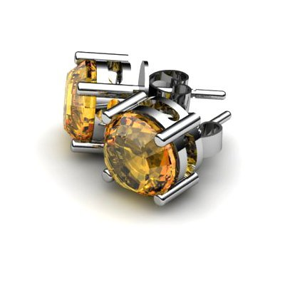 Citrine 3.60ctw Earring 14kt White Gold