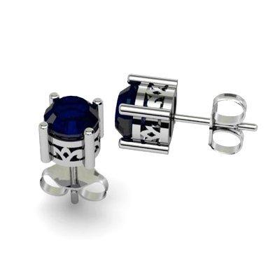 Sapphire 1.30ctw Earring 14kt White Gold