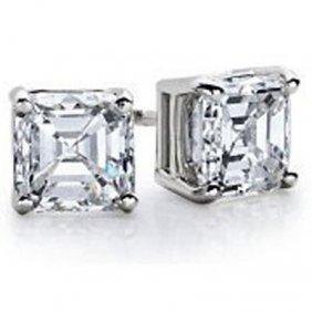 2.50 Ctw Princess Cut Diamond Stud Earrings I-J, SI2