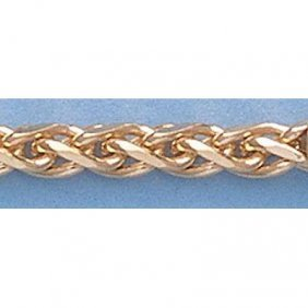 "Pure Gold 16"" 14k Gold-Yellow 1.1mm Oval Link Chain"