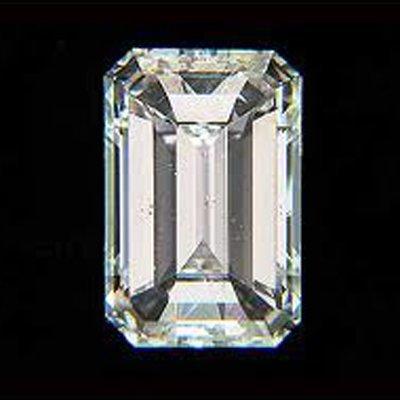 EGL Certified Diamond Emerald 0.72ctw G,VS2