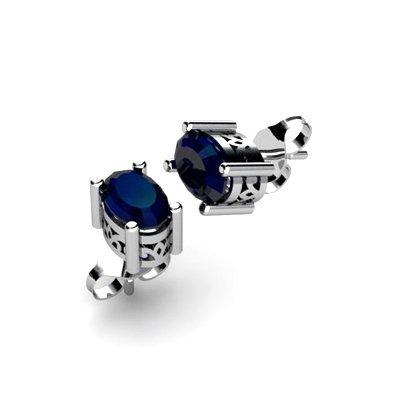 Sapphire 1.20ctw Earring 14kt White Gold