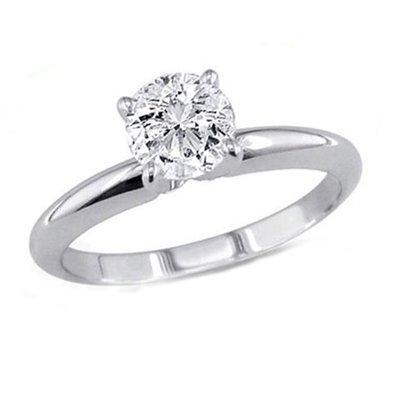 0.35 ct Round cut Diamond Solitaire Ring, G-H, VVS