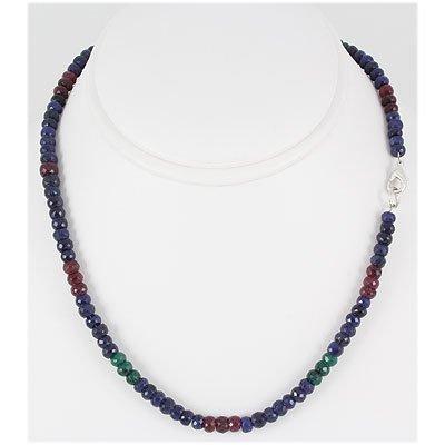 144.57ctw Natural Multi-Color Rondelles Necklace