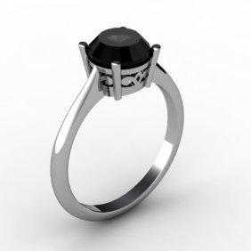 Black Diamond 1.25 Ctw Ring 14 Kt White Gold