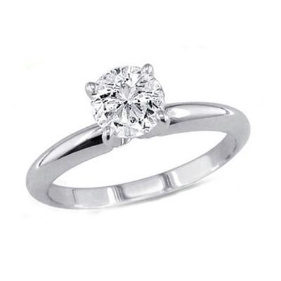 2.00 ct Round cut Diamond Solitaire Ring, I-J, SI2