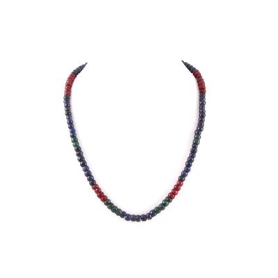 301.5ctw Multi Precious Gemstone Beads Necklace
