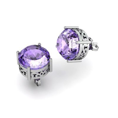 Tanzanite 5.75ctw Earring 14kt White Gold