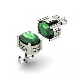 Emerald 2.52ctw Earring 14kt White Gold