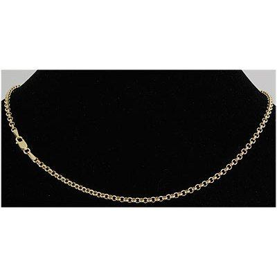 "Pure Gold 16"" 14k Gold-Yellow 2.5mm Hallow Rolo"