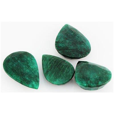 Emerald 535ct Loose Gemstone Mix Sizes Pear Cut