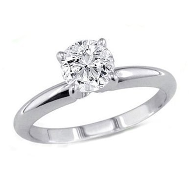 0.25 ct Round cut Diamond Solitaire Ring, G-H, VVS