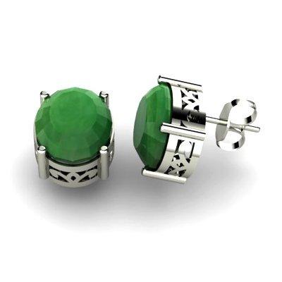 Emerald 5.20ctw Earring 14kt White Gold