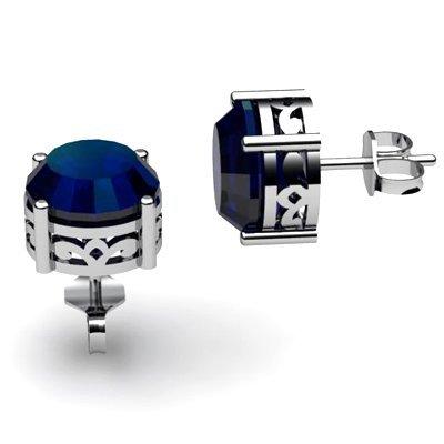 Sapphire 2.25ctw Earring 14kt White Gold