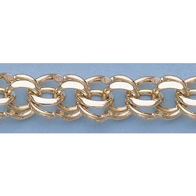 "Pure Gold 7"" 14k Gold-Yellow 9.8mm Charm Bracelets 30g"
