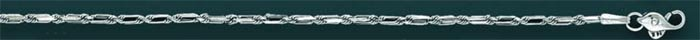BAGUETTE LINK 30 2.0mm 20in. 6.4 grs 14kt W Gold