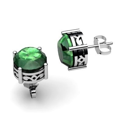 Emerald 2.50ctw Earring 14kt White Gold