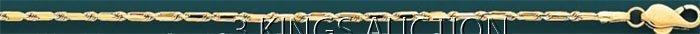 BAGUETTE LINK 45 2.5mm 24in. 11.7 grs 14kt Y Gold