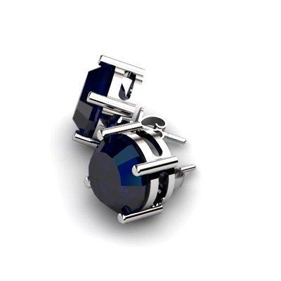 Sapphire 9.00ctw Earring 14kt White Gold