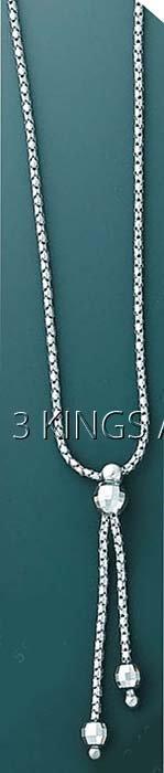 "FANCY DESIGN-necklace 16"" 4.9 grs 14kt W Gold"