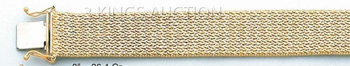 """BOLA COLLECTION-bracelet 8"""" 36.4 grs 14kt Y Gold"""