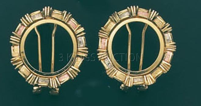 BOLLA COLLECTION-earring 7.5 grs 14kt 3tone Gold