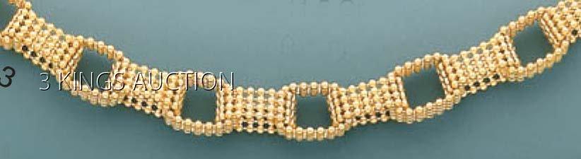 """FANCY DESIGN-necklace 17"""" 12.7 grs 14kt Y Gold"""