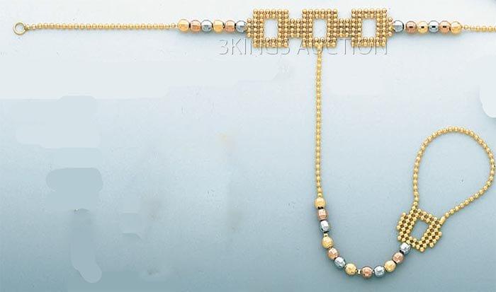 CLONE BRACELETS 4.8 grs 14kt 3tone Gold