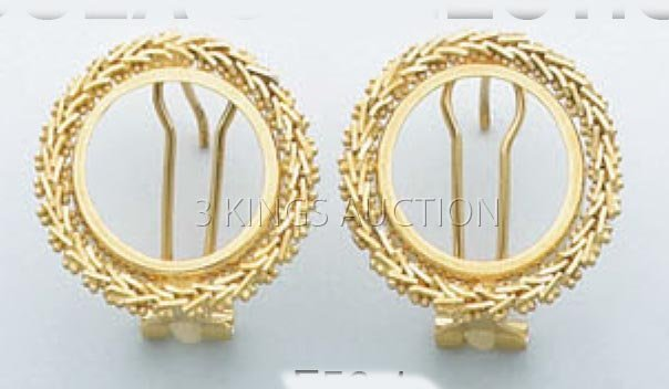 BOLA COLLECTION-earring 6.3 grs 14kt Y Gold