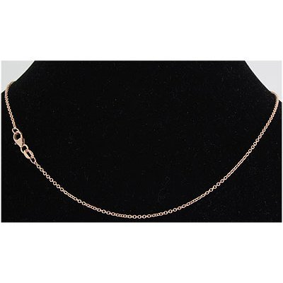 """Pure Gold 16"""" 14k Rose Gold 1.7mm Oval Link Chain"""