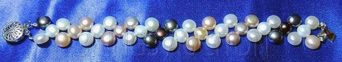 7 Inch Siopao Pearl Bracelet White-Peach-Lavender-Black