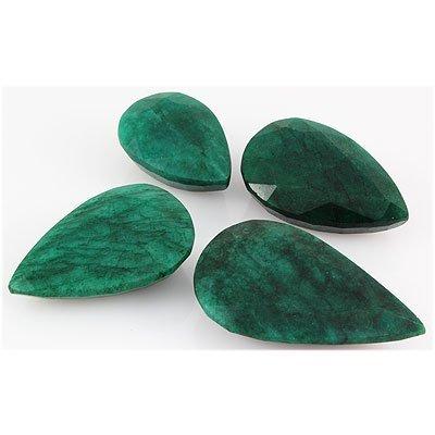 Emerald 658.5ct Loose Gemstone Mix Sizes Pear Cut