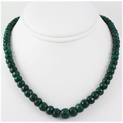 335.98ctw Natural Emerald Rondelles Necklace