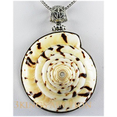 Natural 201.87ctw Mother Of PearlSea Shell Silver Neckl