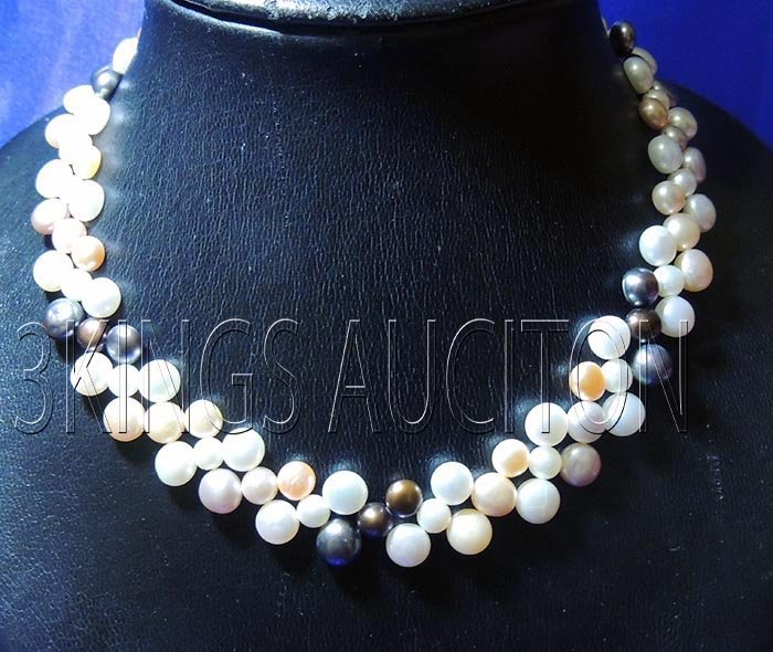 Siopao Pearl Necklace White-Peach-Lavender Philippines