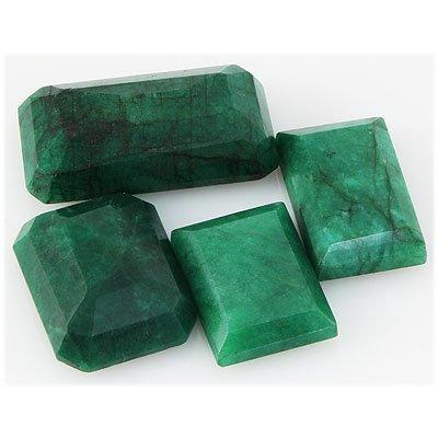 Emerald 249ct Loose Gemstone Mix Sizes Emerald Cut