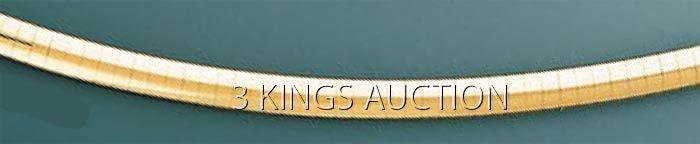 OMEGA NECKLACE 4mm 18in. 27.1 grs 14kt Y Gold