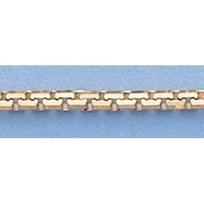 """Pure Gold 16"""" 14k Gold-Yellow 1.9mm 8 Sided Box Chain"""