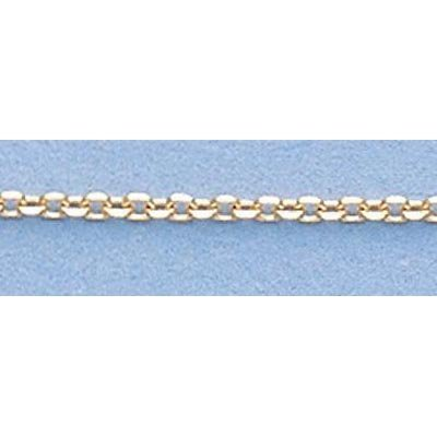 "Pure Gold 16"" 14k Gold-Yellow 1.2mm D/C Boston Chain"