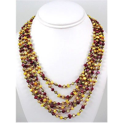 316.50ctw Freshwater Multi-Color Pearl Necklace