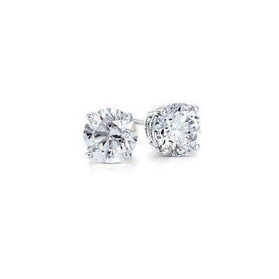 1.00 ctw Round cut Diamond Stud Earrings G-H, SI2