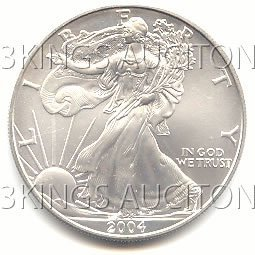 Uncirculated Silver Eagle 2004