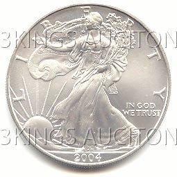 Uncirculated Silver Eagle 2004