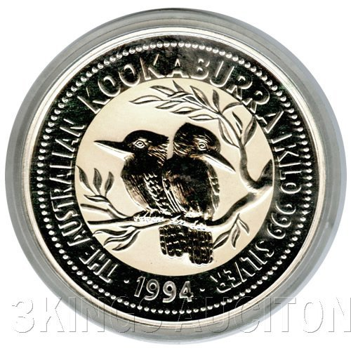 Australian Kookaburra Kilo Silver 1994