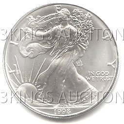 Uncirculated Silver Eagle 1998